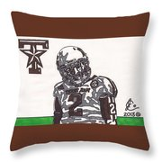 Johnny Manziel 11  Throw Pillow by Jeremiah Colley