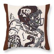Johnny Manziel 5 Throw Pillow