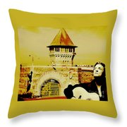 Johnny Sings The Blues Throw Pillow