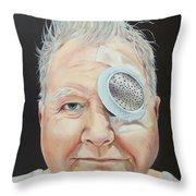 John's Eye Surgery Throw Pillow