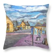 Johnshaven Scotland Throw Pillow