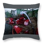Johnson Oyster Company Throw Pillow