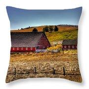 Johnson Road Barns Throw Pillow