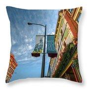 Johnson Street In Victoria B.c. Throw Pillow