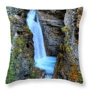 Johnston Canyon Falls Hike Upper Falls Throw Pillow