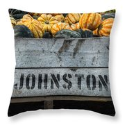 Johnston Fruit Farms Throw Pillow
