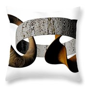 Join Circles Throw Pillow