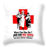 Join Our Red Cross Throw Pillow