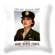 Join The Army Nurse Corps Throw Pillow