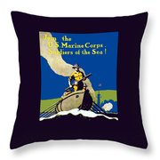 Join The Us Marines Corps Throw Pillow