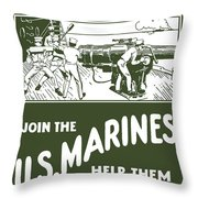 Join The Us Marines Throw Pillow