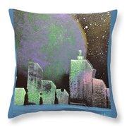 Joker City Throw Pillow