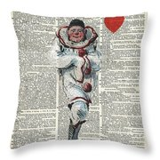 Joker From Playing Cards Throw Pillow