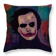 Joker Heath Ledger The Dark Knight Throw Pillow