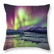 Jokulsarion Glacier Lagoon Throw Pillow