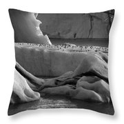 Jokulsarlon Glacier Lagoon Iceland 1920 Throw Pillow