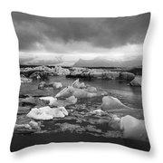 Jokulsarlon Glacier Lagoon Iceland 2041 Throw Pillow