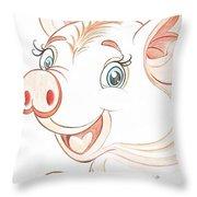 Jolly Miss Piggy Throw Pillow
