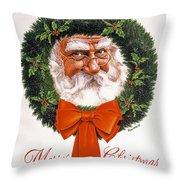 Jolly Old Saint Nick Throw Pillow