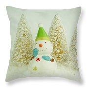 Jolly The Snowman I Throw Pillow