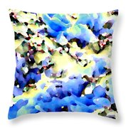 Jolly Winter Blues Throw Pillow