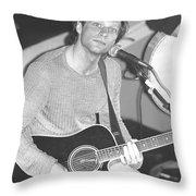 Jon Bon Jovi Acoustic Throw Pillow
