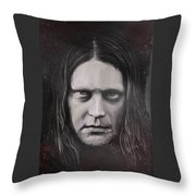 Jonas P Renkse Musician From Katatonia Band By Julia Art Throw Pillow
