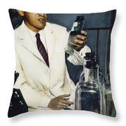 Jonas Salk (1914-1995) Throw Pillow