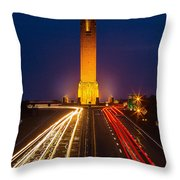 Jones Beach Pencil Light Trails Throw Pillow