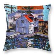 Jones Boathouse Throw Pillow
