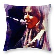 Joni Mitchell, Music Legend Throw Pillow