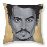Jonny Depp  Throw Pillow