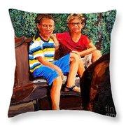Jordan And Ben Throw Pillow