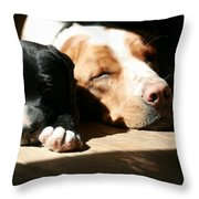 Jordan And Caleb Throw Pillow