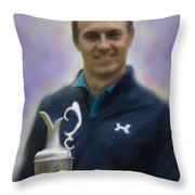 Jordan Spieth Throw Pillow