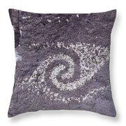 Jornada Mogollon Petroglyph, 5000 Bc- Throw Pillow