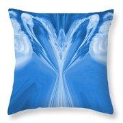 Josea - Blue Throw Pillow