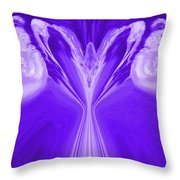 Josea - Purple Throw Pillow