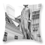 Josef Haydn In Black And White Throw Pillow