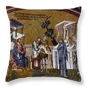 Joseph And Mary Throw Pillow by Granger