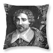 Joseph De Tournefort, French Botanist Throw Pillow
