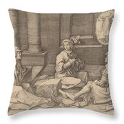 Joseph Interprets The Dreams In Prison Throw Pillow