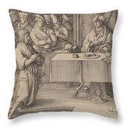 Joseph Interprets The Dreams Of The Pharaoh Throw Pillow