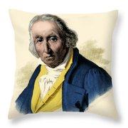 Joseph-marie Jacquard, French Inventor Throw Pillow