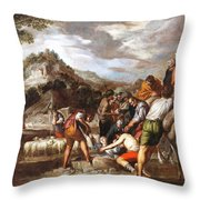 Joseph Sold By His Brothers Throw Pillow
