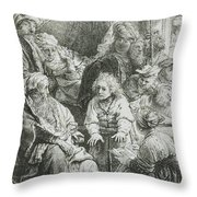 Joseph Telling His Dreams Throw Pillow