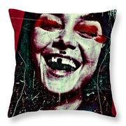 Josephine 01 Throw Pillow by Grebo Gray