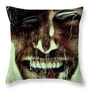 Josephine 03 Throw Pillow by Grebo Gray