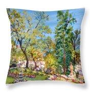 Josephine Gardens Throw Pillow