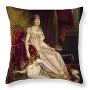 Josephine In Coronation Costume Throw Pillow
